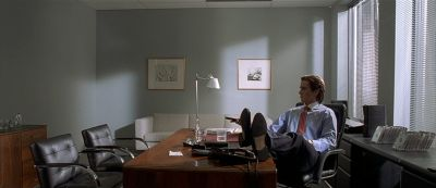 Still from American Psycho (2000) that has been tagged with: blinds