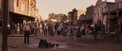 Still from Django Unchained (2012) that has been tagged with: shooting