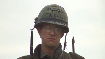 Still from Full Metal Jacket (1987) that has been tagged with: helmet