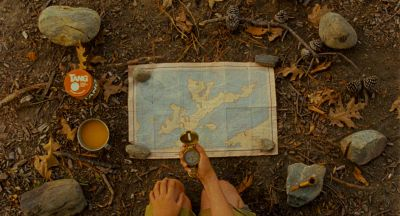 Still from Moonrise Kingdom (2012) that has been tagged with: top-down