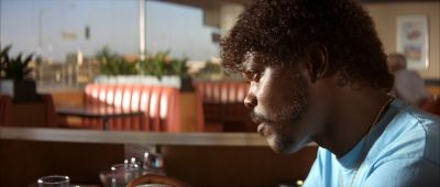 Still from Pulp Fiction (1994) that has been tagged with: restaurant
