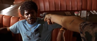 Still from Pulp Fiction (1994) that has been tagged with: diner