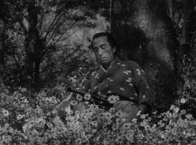 Still from Seven Samurai (1954) that has been tagged with: flowers