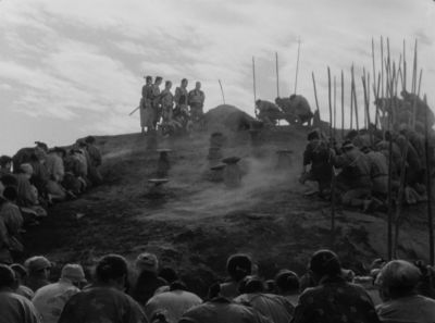 Still from Seven Samurai (1954) that has been tagged with: group-shot