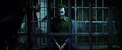 Still from The Dark Knight (2008) that has been tagged with: prison cell