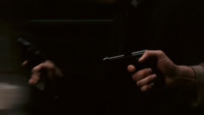 Still from The Godfather (1972) that has been tagged with: shooting