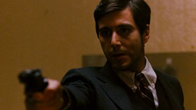 Still from The Godfather (1972) that has been tagged with: gun