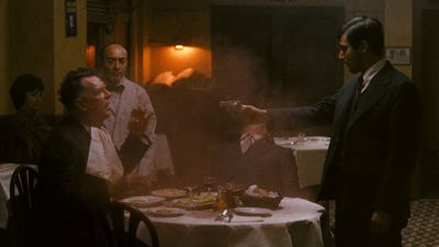 Still from The Godfather (1972) that has been tagged with: restaurant