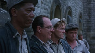 Still from The Shawshank Redemption (1994) that has been tagged with: group-shot